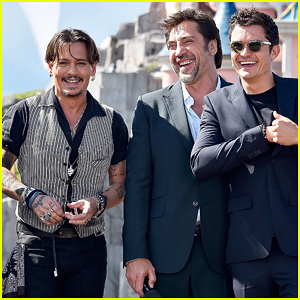 Johnny Depp, Orlando Bloom & Javier Bardem Bring 'Pirates of the Caribbean' To Paris!