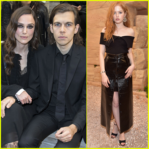 Keira Knightley & Husband James Righton Sit Front Row at Chanel Fashion Show
