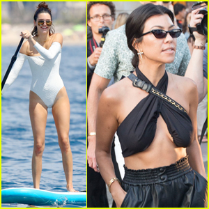 Kendall Jenner Kicks Back in Cannes With Sis Kourtney Kardashian