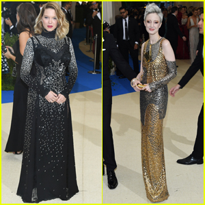 Lea Seydoux & Andrea Riseborough Shimmer at the Met Gala 2017