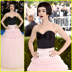 Lily Collins Turns Heads While Wearing Blunt Bob Hair For Met Gala 2017