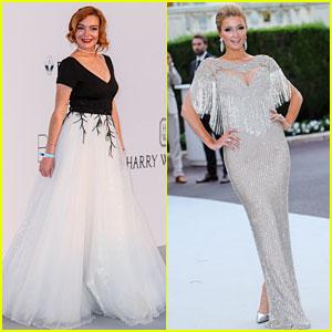 Lindsay Lohan & Paris Hilton Glam Up for amfAR Cannes Gala!