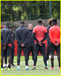 Manchester United Team Take Moment of Silence During Practice for Concert Victims