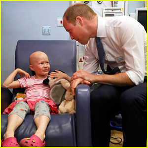 Prince William Visits Young Cancer Patient During Royal Marsden Hospital Visit!