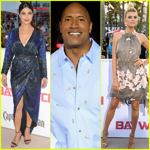 Pryianka Chopra, Dwayne Johnson, & Kelly Rohrbach Premiere 'Baywatch' in Miami