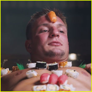 Rob Gronkowski Serves Sushi on His Body in This Music Video