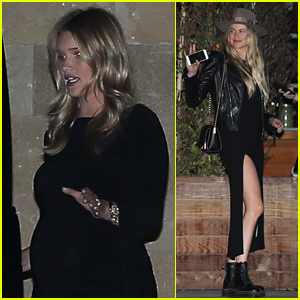 Rosie Huntington-Whiteley Grabs Dinner with Behati Prinsloo in Malibu