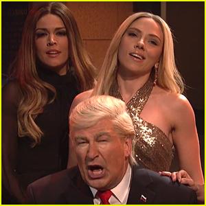 Alec Baldwin & Scarlett Johansson Reprise Their Roles as Donald & Ivanka Trump in 'SNL' Cold Open - Watch!