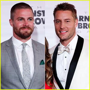Stephen Amell & Justin Hartley Suit Up for Kentucky Derby Party