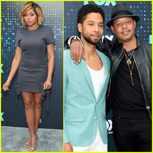 Taraji P. Henson & 'Empire' Cast Step Out at Fox Upfronts in New York