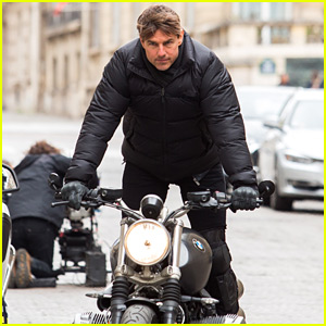 Tom Cruise Does Some Motorcycle Stunts for 'Mission Impossible 6'!