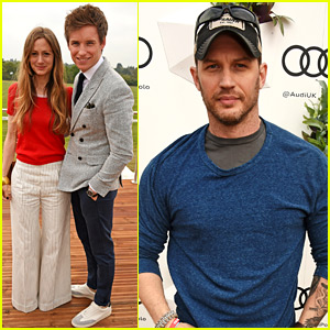 Tom Hardy & Eddie Redmayne Check Out the Audi Polo Challenge