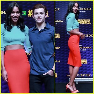 Tom Holland & Laura Harrier Take on Sao Paulo While Promoting 'Spider-Man: Homecoming'