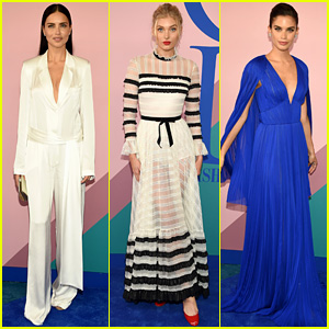 VS Angels Adriana Lima, Elsa Hosk, & Sara Sampaio Stun at CFDA Fashion Awards 2017!