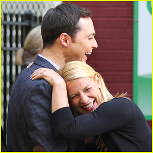 Claire Danes & Jim Parsons Bring the Laughs While Filming 'A Kid Like Jake'