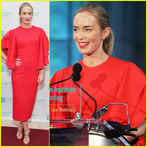Emily Blunt is Radiant at American Institute for Stuttering Gala!