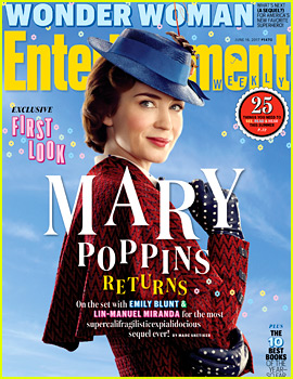 Emily Blunt as Mary Poppins - First Look 'Mary Poppins Returns' Photo!