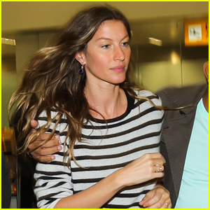 Gisele Bundchen Looks Pretty in Stripes as She Lands in Brazil - Post ... Gisele Bundchen