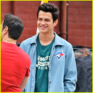 Hayden Christensen is All Smiles on Set of 'Little Italy' in Canada