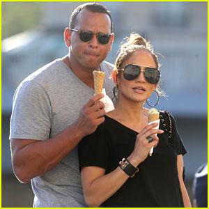 Jennifer Lopez & Alex Rodriguez Have Romantic Ice Cream Date