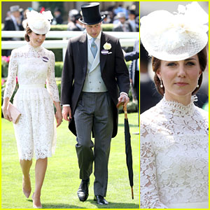 Kate Middleton Wows in Alexander McQueen White Lace Dress for Royal Ascot