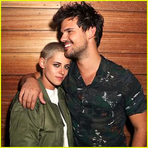 Kristen Stewart & Taylor Lautner Reunite at Moschino Show