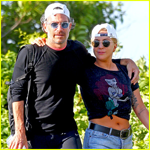 Lady Gaga & Boyfriend Christian Carino Go for Romantic Stroll in the Hamptons!