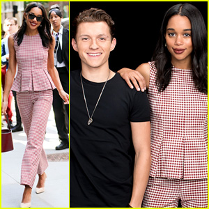 5b11930d896 Laura Harrier Shows Off Chic Style Before  Spider-Man  Premiere