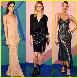 Lily Aldridge, Karlie Kloss, & Martha Hunt Wear Chic Looks at CFDA Fashion Awards 2017!