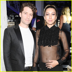 Matthew Morrison & Pregnant Wife Renee Attend Fashion Show Ahead of Babymoon