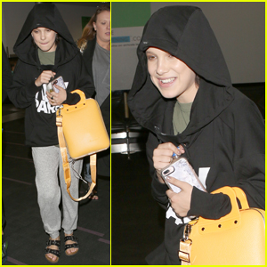 Millie Bobby Brown Keeps Busy as She Jets Out of LA
