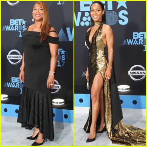 Queen Latifah, Jada Pinkett Smith & the 'Girls Trip' Cast Step Out at BET Awards 2017