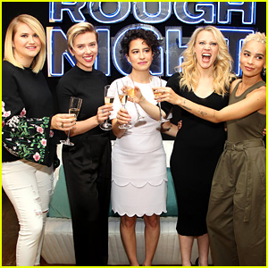Scarlett Johansson & 'Rough Night' Cast Share a Toast at NYC Photo Call