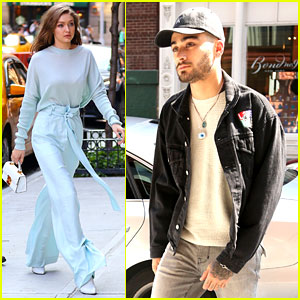 Zayn Malik & Girlfriend Gigi Hadid Hang Out at Her Apartment