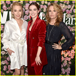 Zoey Deutch Poses With Mom Lea Thompson & Sister Madelyn at Women in Film Event