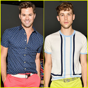 Andrew Rannells & Tommy Dorfman Buddy Up at Parke & Ronen Show During NY Men's Fashion Week
