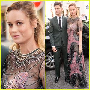 Brie Larson & Fiancé Alex Greenwald Couple Up in Paris for Valentino Fashion Show!