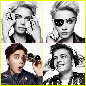 Cara Delevingne, Martin Garrix & Li Yifeng Front A|X Armani Exchange's New Campaign!