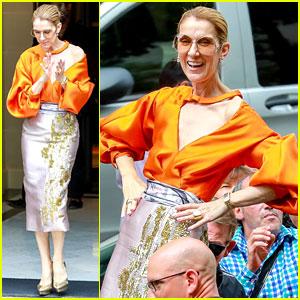 Celine Dion Is An Orange Goddess Before Final Paris Show