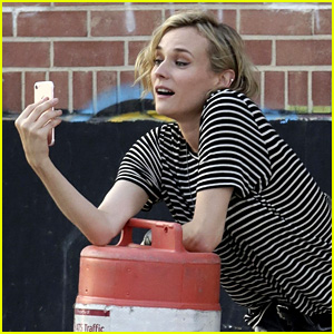Diane Kruger Spotted Facetiming with Boyfriend Norman Reedus!