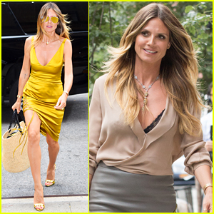 Heidi Klum is a Golden Goddess While Out in NYC