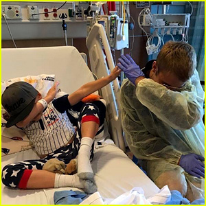 Justin Bieber Surprises Fans at Children's Hospital of Orange County (Video)