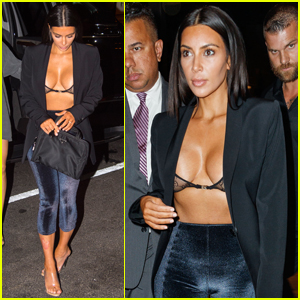 Kim Kardashian Shows Some Skin While Out to Dinner!