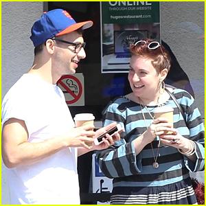 Lena Dunham Grabs Breakfast with Boyfriend Jack Antonoff in WeHo