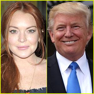 Lindsay Lohan Defends Donald Trump on Twitter