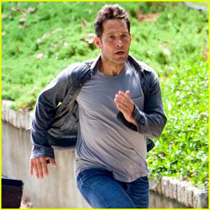 Paul Rudd Runs as Scott Lang for 'Avengers: Infinity War'