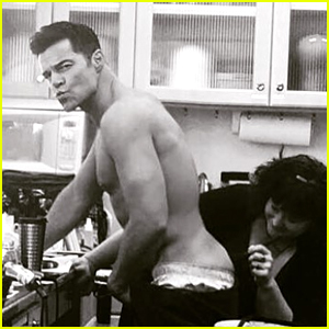 Ricky Martin Gets His Butt Tattoo Covered for 'Versace'!