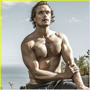 Sam Heughan's Shirtless Workout Photos Are So Sexy