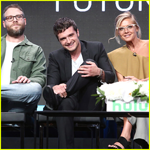 Seth Rogen, Josh Hutcherson, & Eliza Coupe Promote 'Future Man' at TCA Summer Press Tour