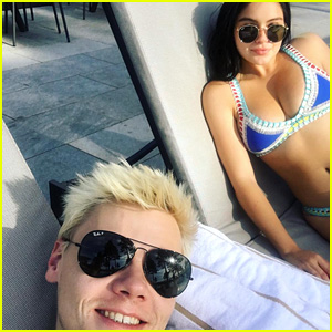 Ariel Winter Lounges in a Bikini With Levi Meaden in Tahoe